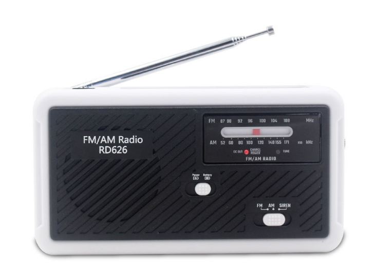 Multifunktionell vevradio med led-lampa – fm-radio usb solcell