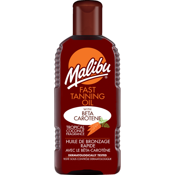Malibu fast tanning oil with beta carotene 200ml
