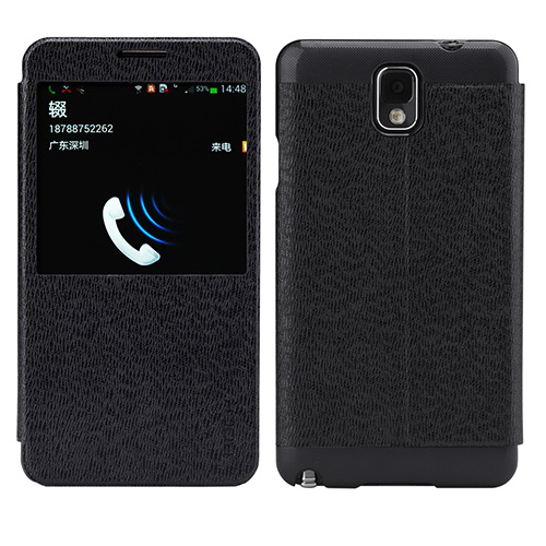 Rock excel window cover fodral till samsung galaxy note 3 (svart