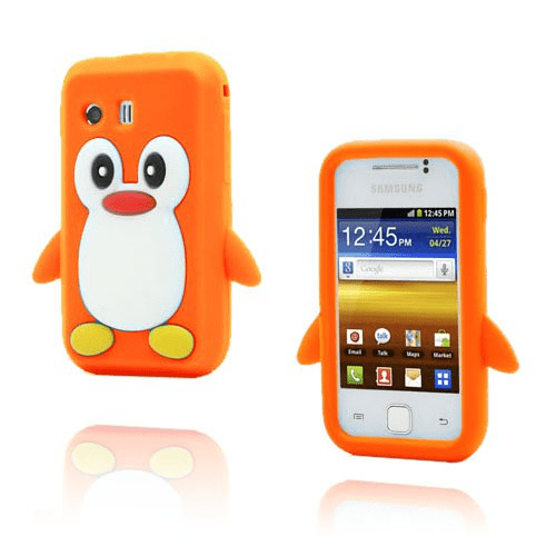 Funny penguin (orange) samsung galaxy y skal