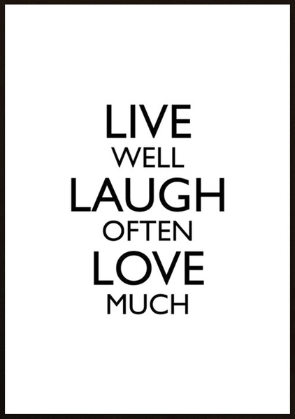 Poster - Live Well 21x30cm