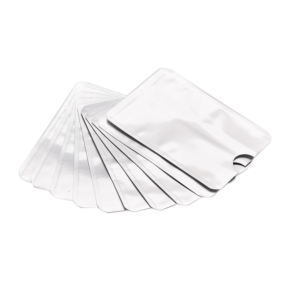 10pcs rfid secure protector blocking id credit card sleeves hold