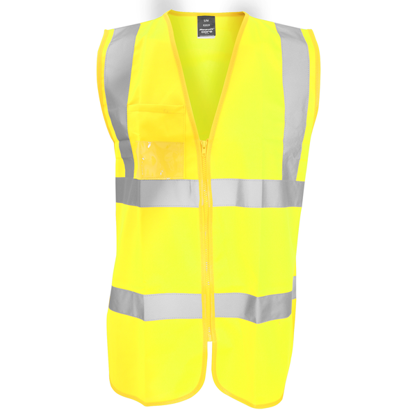 Result core mens zip through hi vis safety tabard/vest fluoresce