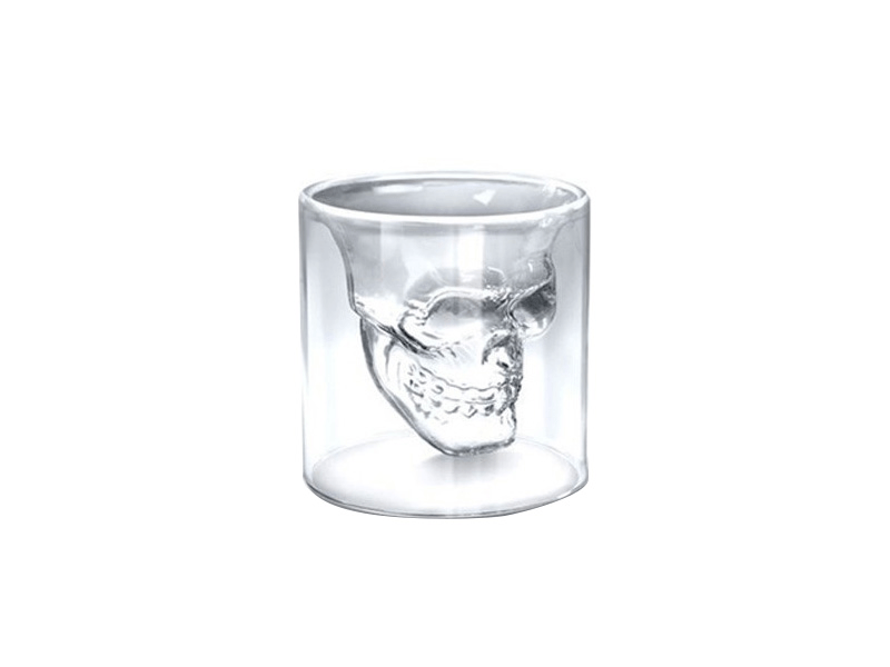 Dödskalle Whiskey/Shot Glas