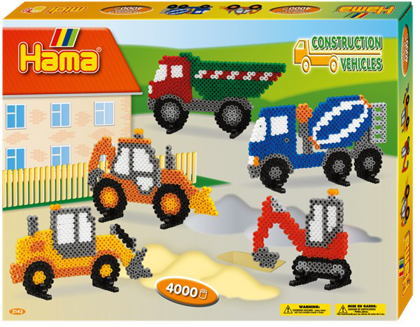 HAMA Midi Construction Vehicles, gift box