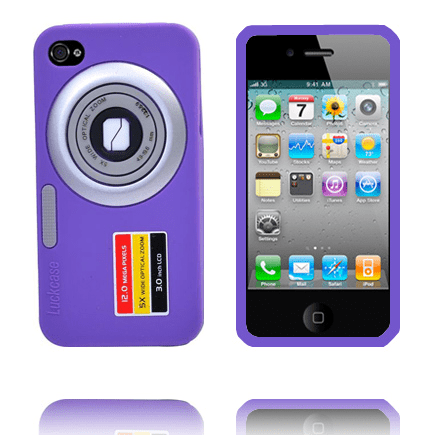 Camcase (lila) iphone 4s silikonskal