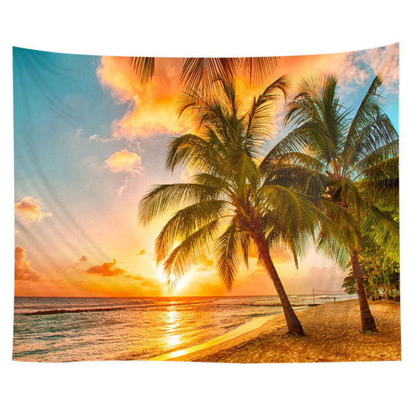 Tapestry scenic printed polyester fabric hanging decor mural