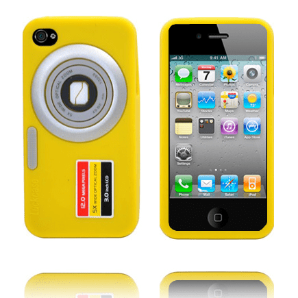Camcase (gul) iphone 4s silikonskal