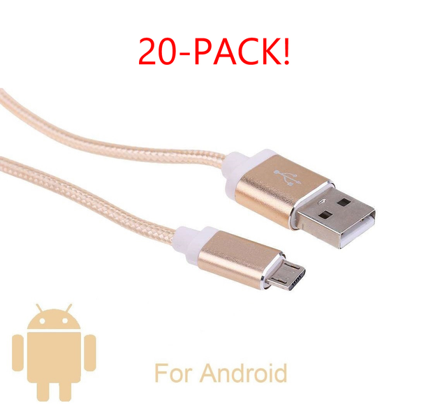 2M Guld Laddare till Samsung (Android) 20 Pack!