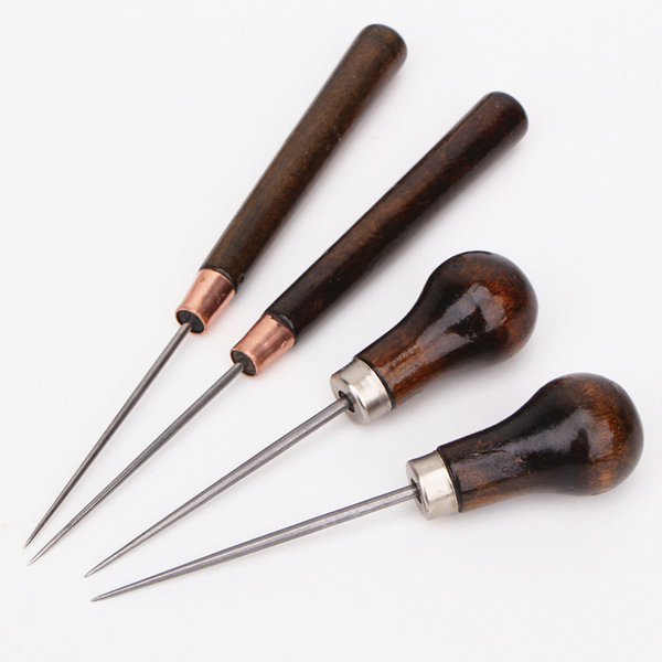 Wood handle drillable awl craft stitching sewing repair tools