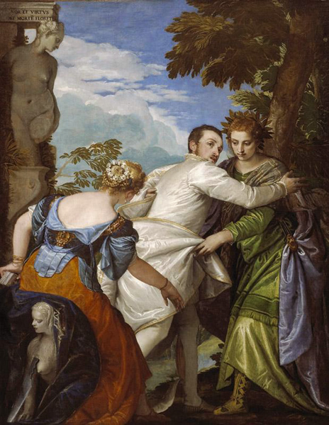 llegory of Vice and Virtue,Paolo Veronese,50x40cm