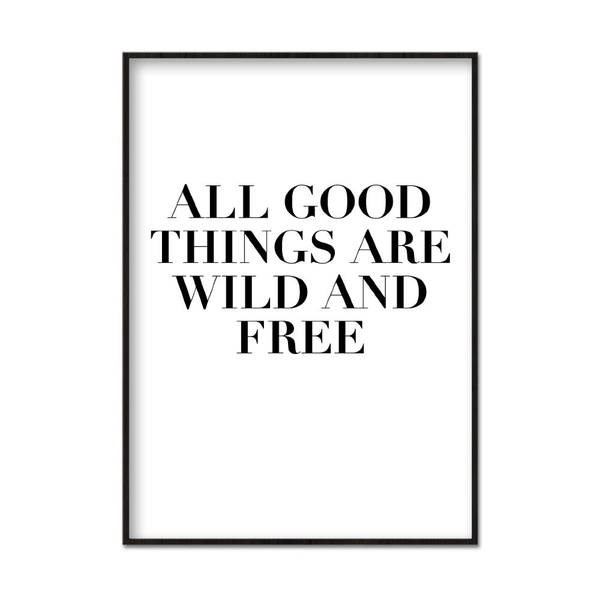 Poster A3 30x42cm All Good Things