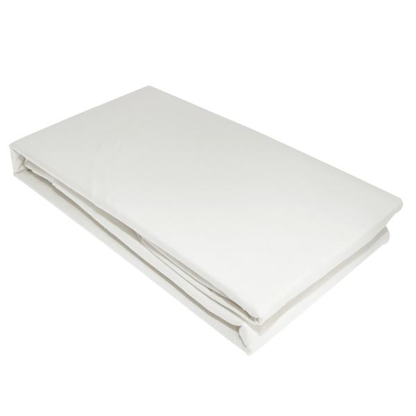 Victoria london percale fitted double sheet white utbed205