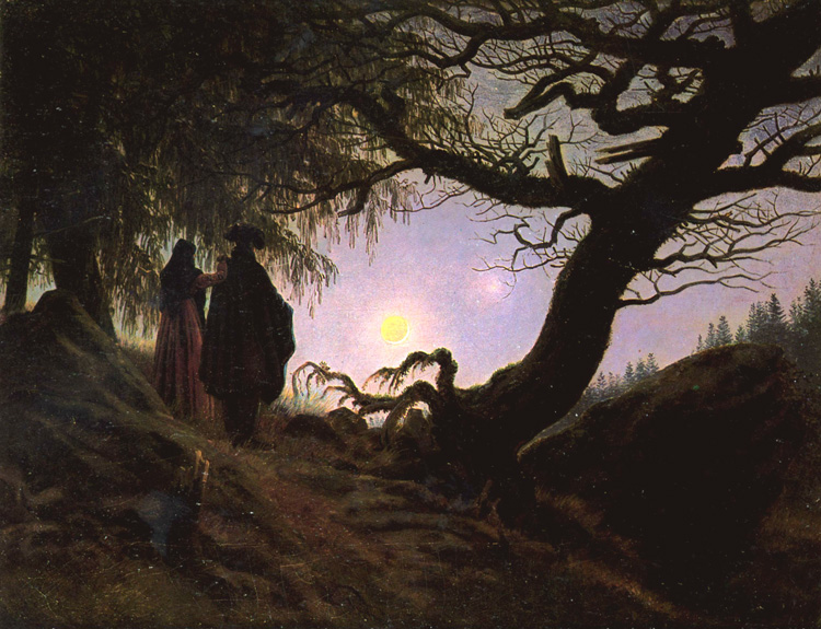 Man and and and Woman Contemplating the,Caspar David Friedrich,50x40cm a851e9