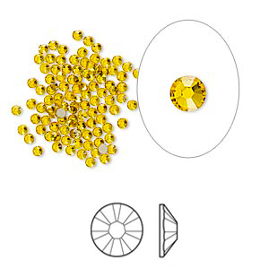 Swarovski flat back strass 1.7-1.9mm sunflower 10-pack
