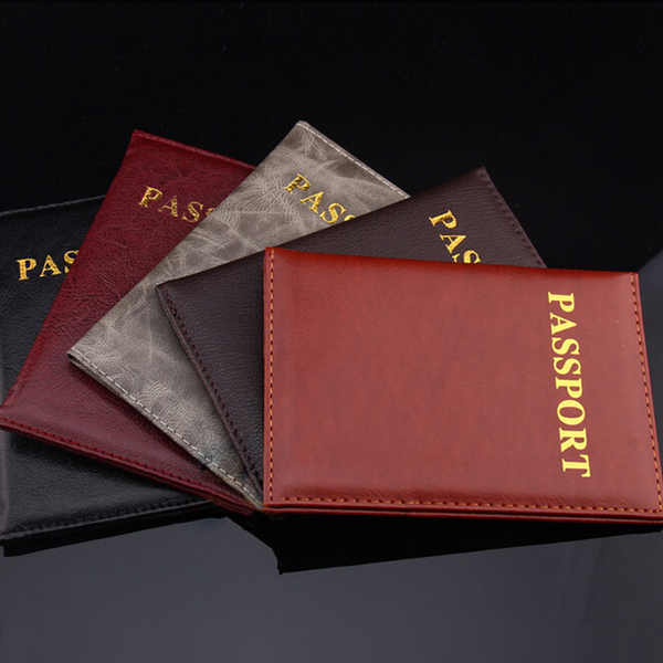 New passport holder protector cover wallet pu leather cover