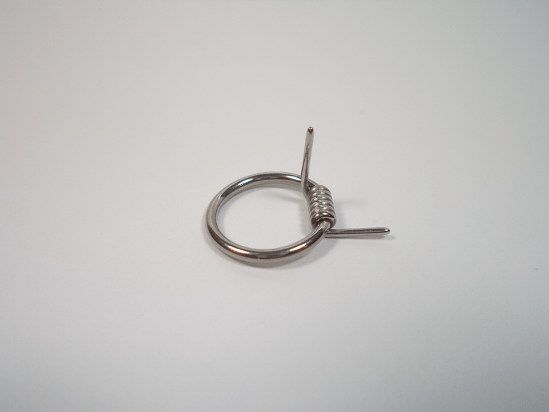 10st Captive Bead Rings - Steel Wire