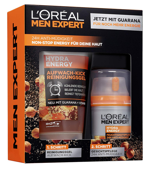 Hydra energy gift set for men 24h moisturizer with guarana 50ml