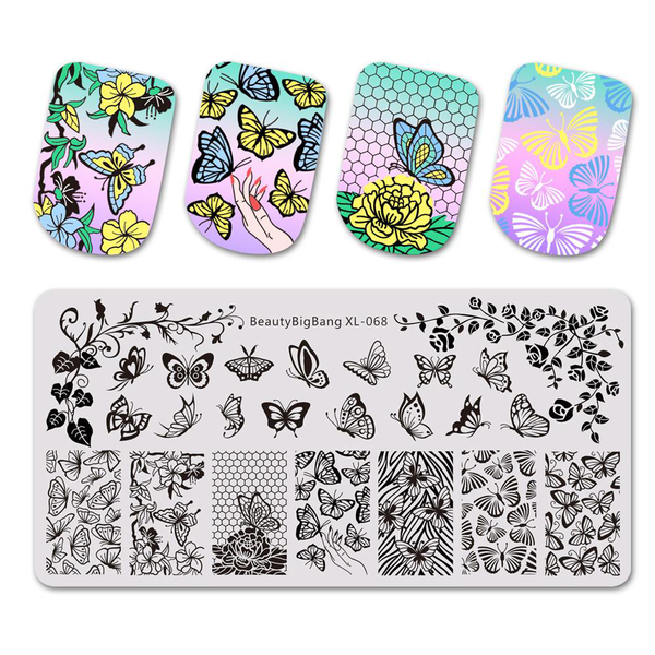 Nail art template stamping plates image stencil beauty girl