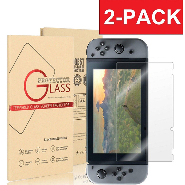 For switch ultra clear slim premium tempered glass screen protec