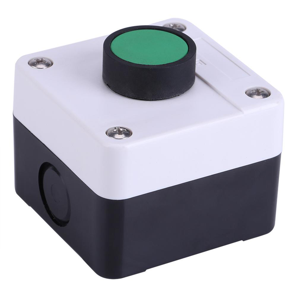 Weatherproof green push button switch one button control box