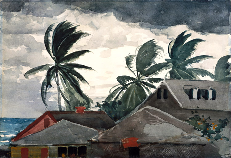 Ouragan aux Bahamas,Winslow Homer,36.8x53.3cm