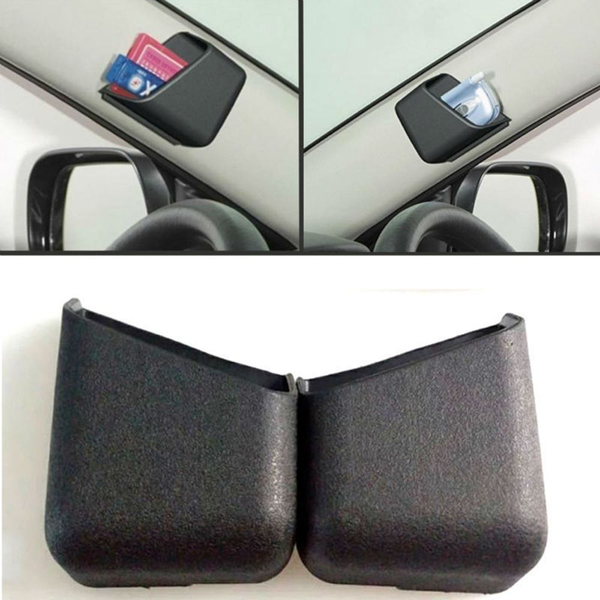 2pcs car organizer box storage bag phone pen holder auto