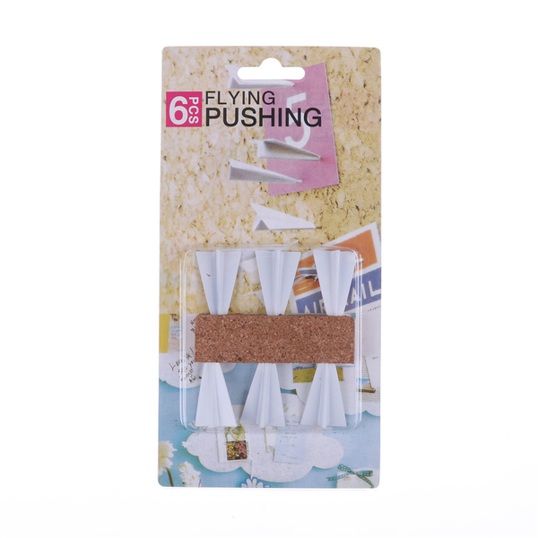 New 6pc/lot paper airplane push pins set office flying pushing t