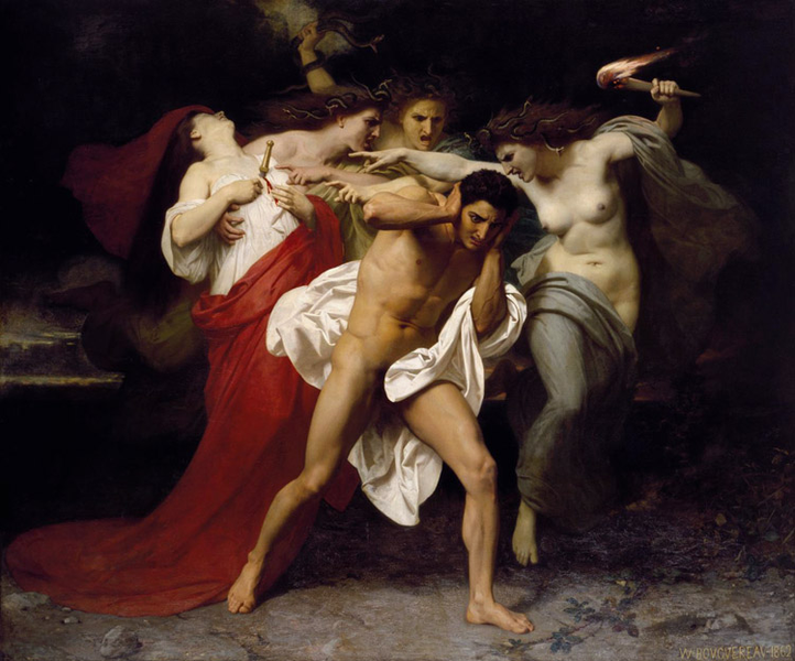Orestes Pursued by the the the Furies,Adolphe William Bouguereau,60x50cm fac228