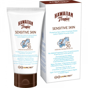Hawaiian tropic sensitive skin protective sun lotion spf 50