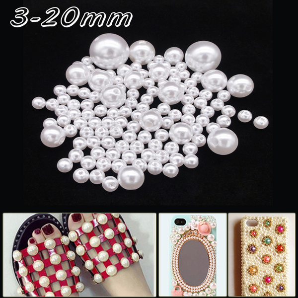 20PCS Crystal Resin Round Loose Beads Jewelry Making 10mm