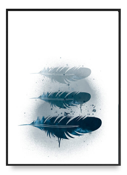 Blue feather poster b2