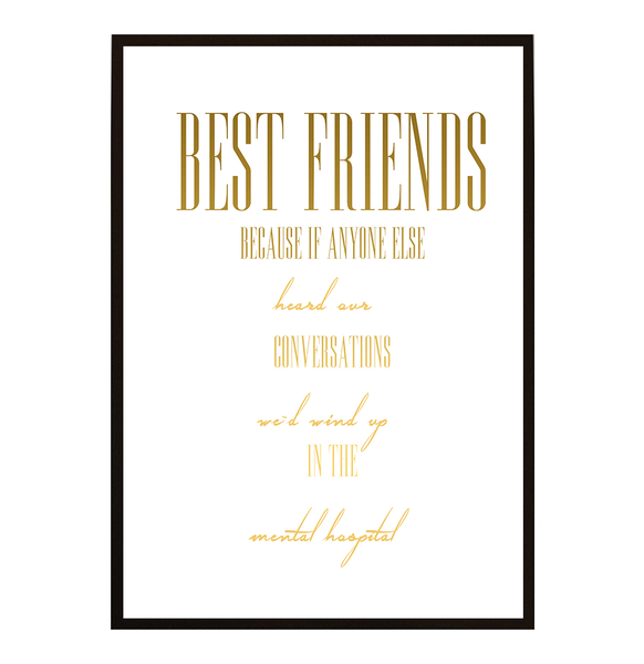 Poster - Best Friends No.1 21x30cm