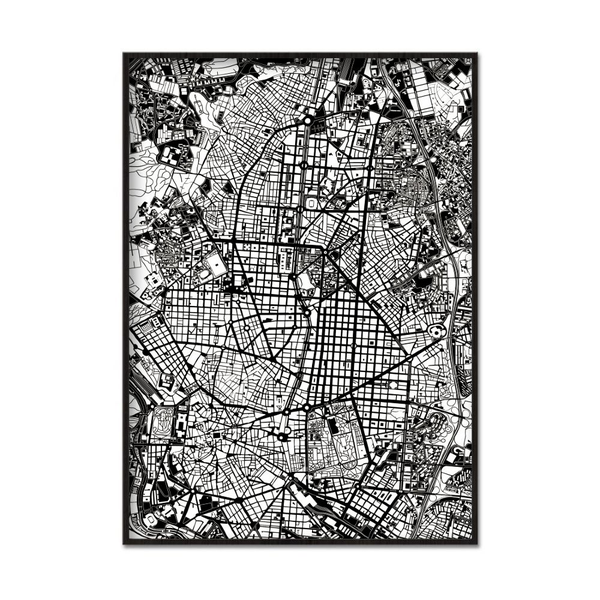 Poster A4 21x30cm Map