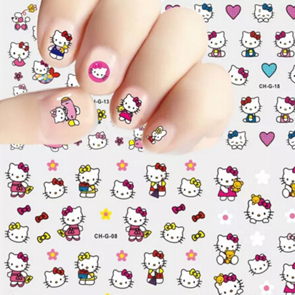 10 designs hello kitty 5d self adhesive water decals diy