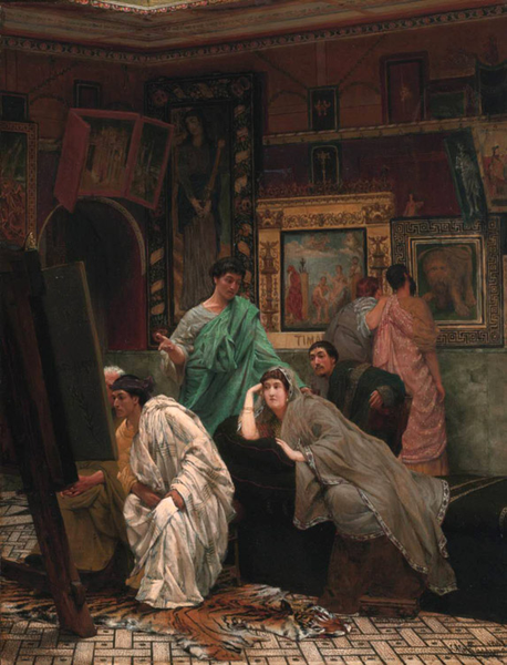 The Collector of Pictures in,Alma-Tadema Sir Lawrence,71x46.4cm