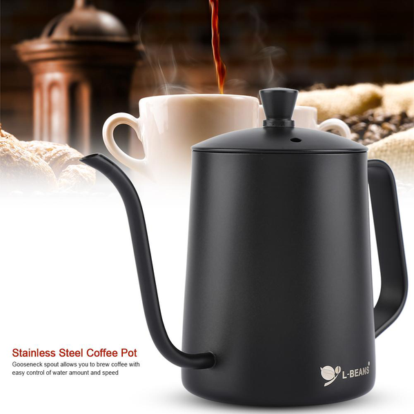 550ml stainless steel long gooseneck coffee pot kettle with
