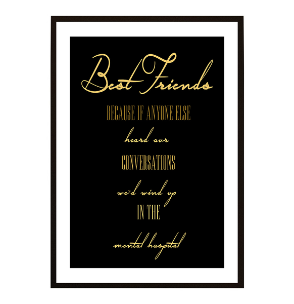 Poster - Best Friends No.12 30x40cm