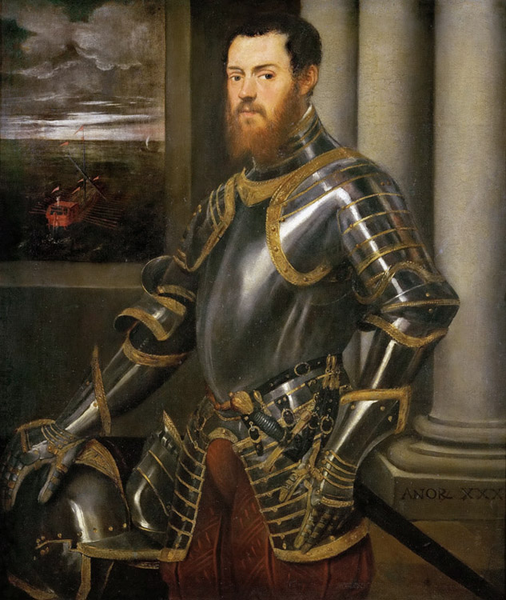 Man in Armour,Tintoretto,60x50cm