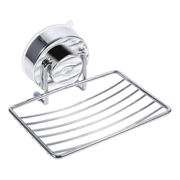 strong suction removable soap dish holder basket tray bat