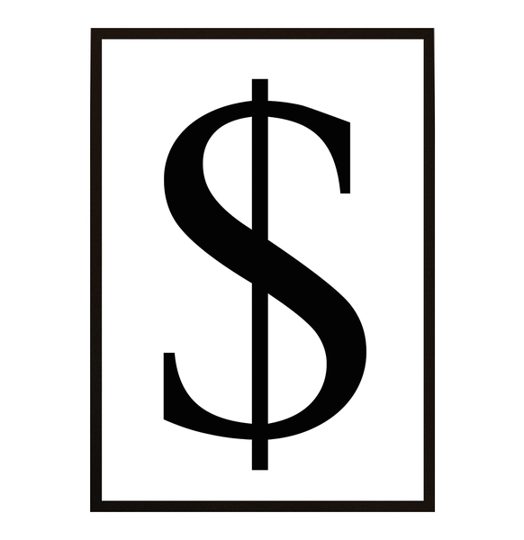 Poster - - - Dollar sign A3 30x40cm 835746