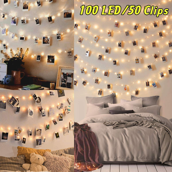 Wearxi 10m100 led string lights for room outdoor fairy lights