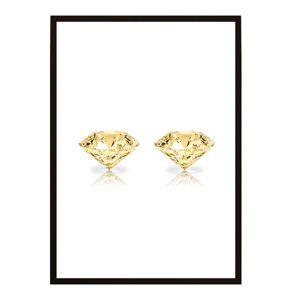 Poster Poster Poster - Diamant guld no.7 40x50cm 8cb668