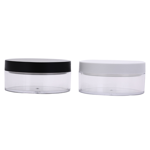 1pc 50g plastic empty loose powder pot with sieve cosmetic makeu