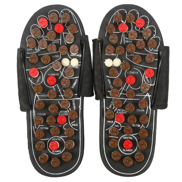 Magnet therapy health care foot massage slippers (38-39 rota