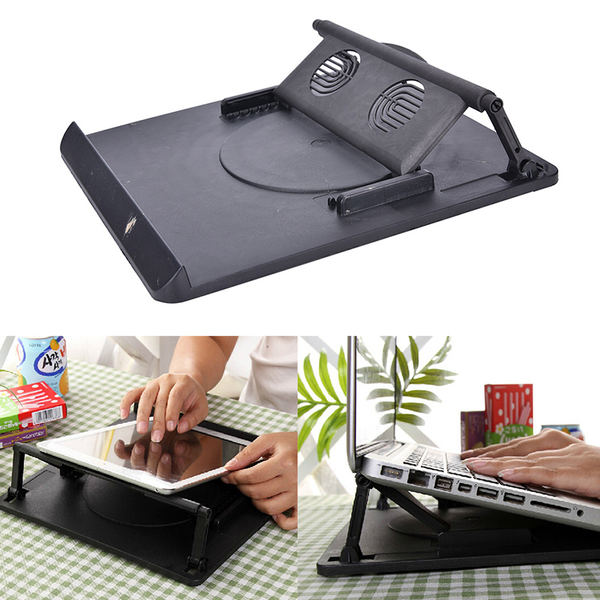 Laptop holder cooling 360° rotation stand mount notebook table s