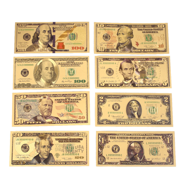 Commemorative notes banknotes realistic antique plated gold fak