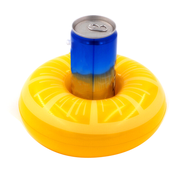Inflatable cup holder drink holder lemon swimming pool float toy