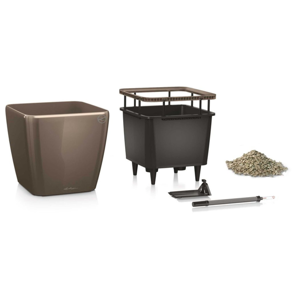 LECHUZA Odlingsenhet Quadro 43 LS ALL-IN-ONE ALL-IN-ONE ALL-IN-ONE taupe högglans 1618 1b3b0c