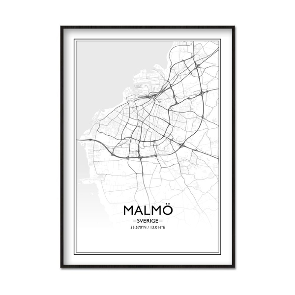 Poster Poster Poster A4 21x30cm Malmö f625e0
